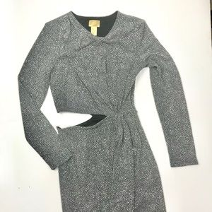 H&M Gold Tag Sparkly Grey/Silver Body Con Dress 8